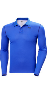 2020 Helly Hansen Mens Lifa Active Solen Long Sleeve Polo 49351 - Royal Blue
