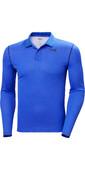 2021 Helly Hansen Mens Lifa Active Solen Long Sleeve Polo 49351 - Royal Blue