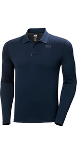 2020 Helly Hansen Mens Lifa Active Solent Long Sleeve Polo 49351 - Navy