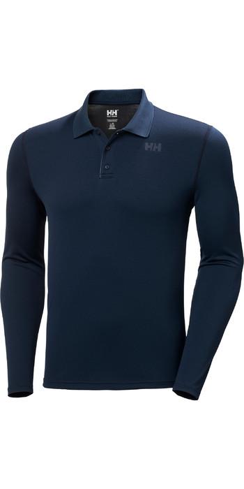 2021 Helly Hansen Mens Lifa Active Solen Long Sleeve Polo 49351 - Navy