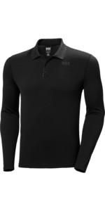 2020 Helly Hansen Mens Lifa Active Solent Long Sleeve Polo 49351 - Ebony