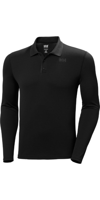 2021 Helly Hansen Mens Lifa Active Solen Long Sleeve Polo 49351 - Ebony