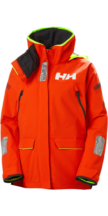 2021 Helly Hansen Womens Skagen Offshore Sailing Jacket 33920 - Cherry Tomato