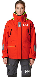 2021 Helly Hansen Womens Skagen Offshore Sailing Jacket 33920 - Cherry Tomato