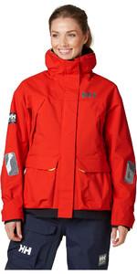 2020 Helly Hansen Womens Pier Coastal Sailing Jacket 34177 - Alert Red