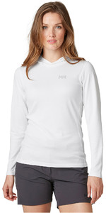 2021 Helly Hansen Womens Lifa Active Solen Hoody 49344 - White