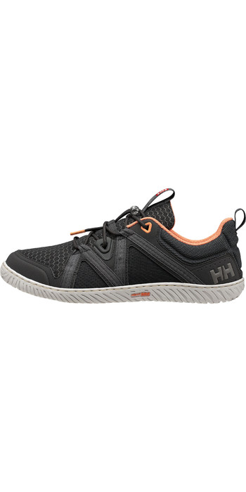2021 Helly Hansen Womens HP Foil F-1 Sailing Shoes 11316 - Ebony / Charcoal / Melon