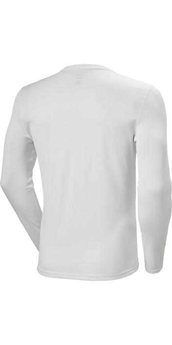 2021 Helly Hansen Mens Lifa Active Solen Long Sleeve Top 49348 - White