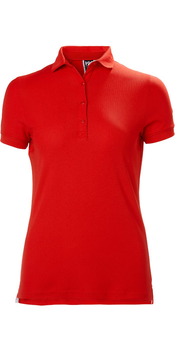 2021 Helly Hansen Womens Crewline Polo Shirt 53049 - Flag Red
