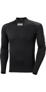 2020 Helly Hansen Mens Long Sleeve Rash Vest 34023 - Black