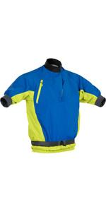 2020 Palm Mens Mistral Short Sleece Kayak Jacket 12508 - Cobalt / Citrus