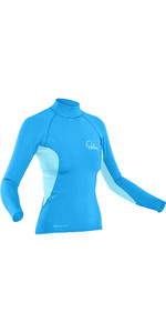 2021 Palm Womens 0.5mm NeoFlex Long Sleeve Top 12187 - Aqua / Glacier