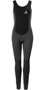 2020 Musto Womens Foiling Thermocool 1.5mm Impact Long John Wetsuit 80926 - Dark Grey / Black