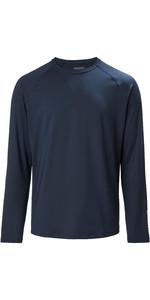 2020 Musto Mens Evolution Long Sleeve Sunblock Tee 2.0 81155 - True Navy
