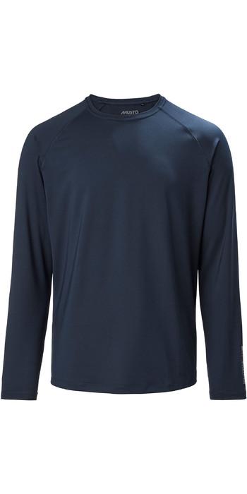 2021 Musto Mens Evolution Long Sleeve Sunblock Tee 2.0 81155 - True Navy