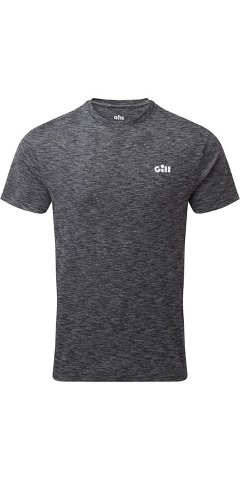 2021 Gill Mens Holcombe Crew Short Sleeve Base Layer 1103 - Charcoal