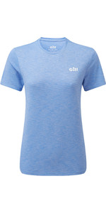 2020 Gill Womens Holcombe Crew Short Sleeve Base Layer 1103W - Sky Blue