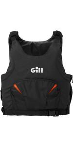 2020 Gill Junior Pro Racer Side Zip 50N Buoyancy Aid 4916J - Black / Orange