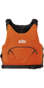 2021 Gill Junior Pro Racer Side Zip 50N Buoyancy Aid 4916J - Orange