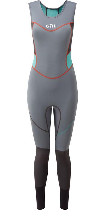 2020 Gill Womens Zenlite 2mm Flatlock Skiff Suit 5002W - Steel Grey