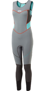 2020 Gill Womens Zenlite 2mm Flatlock Skiff Suit 5002W - Steel Grey