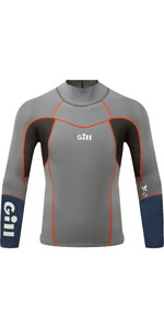 2020 Gill Mens Zenlite 1.5mm Flatlock Neoprene Top 5003 - Steel Grey