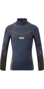 2020 Gill Junior Zenlite 1.5mm Flatlock Neoprene Top 5003J - Ocean / Steel Grey