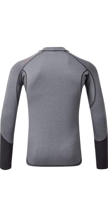2021 Gill Mens Pro Long Sleeve Rash Vest 5020 - Grey Melange