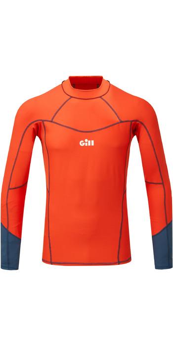 2021 Gill Mens Pro Long Sleeve Rash Vest 5020 - Orange