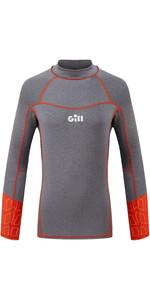 2021 Gill Junior Pro Long Sleeve Rash Vest 5020J - Grey Melange