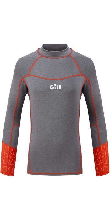 2020 Gill Junior Pro Long Sleeve Rash Vest 5020J - Grey Melange