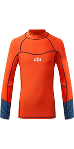 2021 Gill Junior Pro Long Sleeve Rash Vest 5020J - Orange