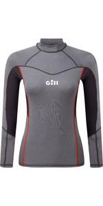 2020 Gill Womens Pro Long Sleeve Rash Vest 5020W - Grey Melange