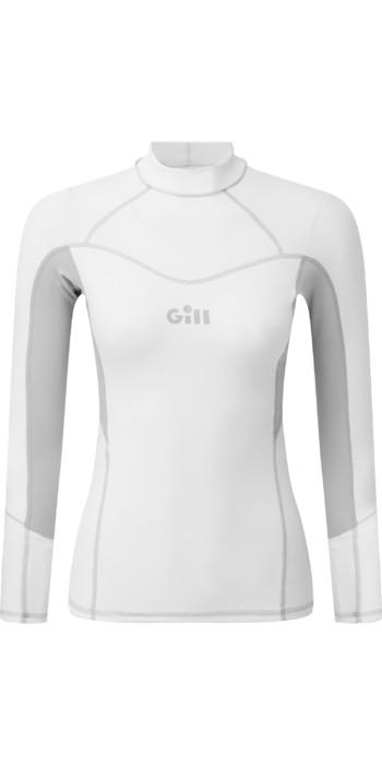 2021 Gill Womens Pro Long Sleeve Rash Vest 5020W - White
