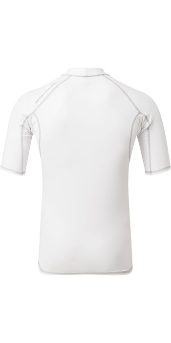 2021 Gill Mens Pro Short Sleeve Rash Vest 5021 - White