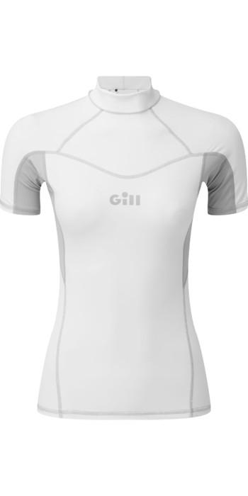 2021 Gill Womens Pro Short Sleeve Rash Vest 5021W - White