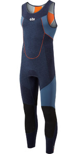 2021 Gill Mens Race Firecell 3.5mm Neoprene Skiff Suit RS16 - Dark Denim / Orange