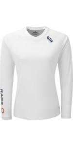 2021 Gill Womens Race Long Sleeve Tee RS37W - White