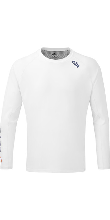 2021 Gill Mens Race Long Sleeve Tee RS37 - White