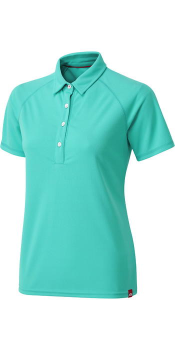 2020 Gill Womens UV Tec Polo Top UV008W - Turquoise
