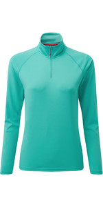 2020 Gill Womens UV Tec Zip Neck Top UV009W - Turquoise