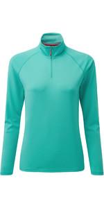 2020 Gill Womens UV Tec Zip Neck Top UV009W - Turquoise