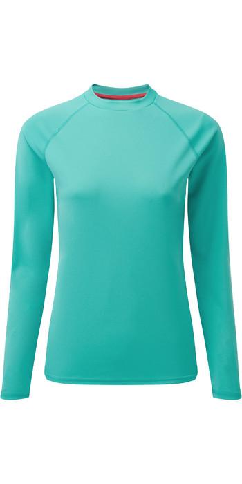 2021 Gill Womens Long Sleeve UV Tec Tee UV011W - Turquoise