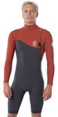 2020 Rip Curl Mens E-Bomb 2mm Long Sleeve Zipperless Shorty Wetsuit WSM8ME - Terracotta