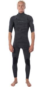 2020 Rip Curl Mens Dawn Patrol 2mm Chest Zip Short Sleeve Wetsuit WSM9YM - Camo