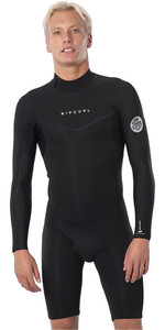 2021 Rip Curl Mens Dawn Patrol 2mm Back Zip Long Sleeve Shorty Wetsuit WSP9IM - Black