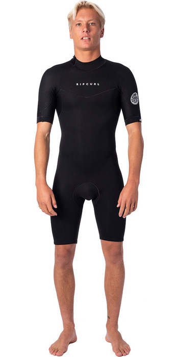 2020 Rip Curl Mens Dawn Patrol 2mm Back Zip Shorty Wetsuit WSP9AM - Black