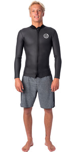 2020 Rip Curl Mens Dawn Patrol Front Zip 1.5mm Neoprene Jacket WVE9MM - Black