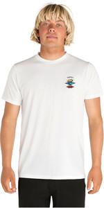2020 Rip Curl Mens Search Logo Short Sleeve UV T-Shirt WLE9CM - White