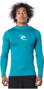 2020 Rip Curl Mens Corpo Long Sleeve UV Tee Rash Vest WLE8QM - Teal